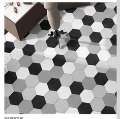Looking for contemporary tile designs that replicate marble, stone and wood in ceramic and porcelain? Then look no further than our huge range of hexagon tiles. Hexagon Tiles, Tile Design, Contemporary, Stone, Bathrooms, Home Decor, Rock, Decoration Home, Bathroom