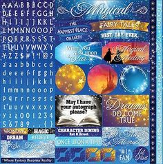 Magical Too 12x12 Alpha Variety Stickers Reminisce MT-100