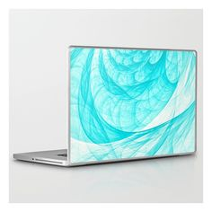 Aqua Marine Waves Laptop iPad Skin ($30) ❤ liked on Polyvore featuring accessories and tech accessories