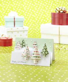 Origami Christmas trees, from Papercraft inspirations issue 132 (December 2014)