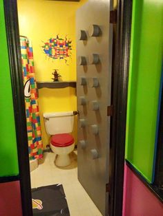 Lego Door For A Lego Themed Bathroom