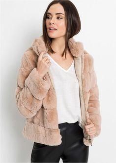 Geacă imitaţie blană cu fermoar roz pal • 249.9 lei • bonprix Fur Coat, Bikini, Costume, Fashion, Bikini Swimsuit, Moda, Fashion Styles, Costumes, Bikinis