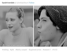Riverdale || yeah gotta admit was one of my favorite Betty and jughead moments Edit: I felt they really needed to address it, that b was gonna give her all to j regardless of a