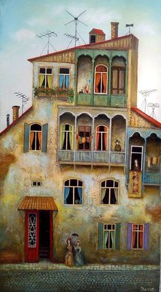 ART~ Architecture~ Quaint Old House ~ I Would Move In Tomorrow.