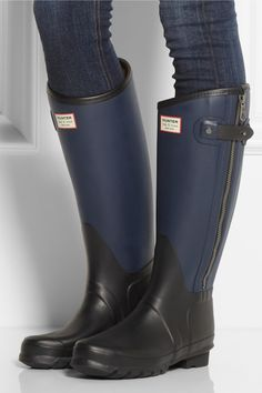 Hunter | + rag & bone leather-effect Wellington boots - so mine!!!! Love the Hunter collabs.