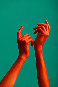 red painted hands of a woman by ulaş kesebir & merve türkan - Stocksy United Neon Photography, Hand Photography, Portrait Photography, Photography Portfolio, Photography Aesthetic, Photography Ideas, Hand Reference, Photo Reference, Drawing Reference