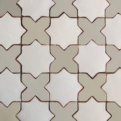 Tabarka Studio - marrakech shape gray & white (Available through H. Ryan Studio)
