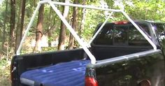 YouTube user karenchakey demonstrates how she uses her pickup truck bed to get around not having to buy big expensive camping tents or campers.