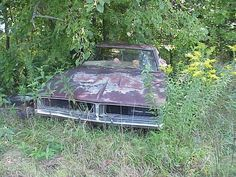 1969 Dodge Charger abandoned