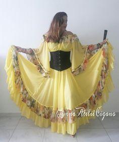 saia cigana floral gypsy skirt dança cigana gypsy dance floral skirt www.facebook.com/ateliecigano