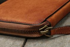 Handmade long wallet leather men phone zip clutch vintage wallet for m | EverHandmade