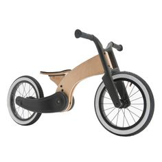 Wishbone Bike Cruise is a balance bike mash-up, designed for stylin' pre-schoolers who are ready to ride.Inspired by the custom motorcycle scene, Wishbone Cruise is a uniquely-styled first ride for children aged 2 years and up. Wooden Bicycle, Wood Bike, Nachhaltiges Design, Bike Design, Tricycle, Custom Motorcycles, Custom Bikes, Custom Choppers, Balance Bike