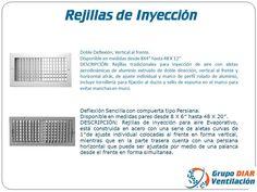 Rejillas de Inyeccion para Aire Acondicionado y Sistemas de Ventilacion