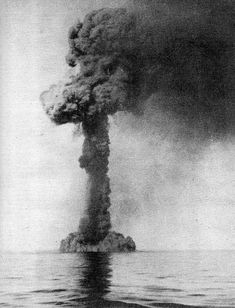 The crippled Italian warship Artigliere is finished off by a torpedo from HMS York which hits her magazine causing a massive explosion. (October 12, 1940). British forces were led by HMS Ajax which was making history, using Radar for the first time in a naval combat engagement, and using it to good effect. She had sunk the Italian destroyer support ships ARIEL and ARIONE and seriously damaged the destroyers AVIERE and ARTIGLIERE.