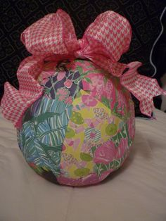 My Lilly Pulitzer Pumpkin!! Made with pages from the 2011 Agenda.