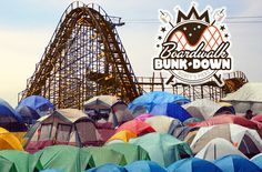 Morey's newest event on October 4, 2014! Camp on Adventure Pier under the starts and the roller coaster!