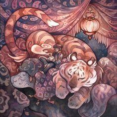 Chai by *creepyfish Traditional Art / Paintings / Illustration / Conceptual *creepyfish Fox Illustration, Watercolor Illustration, Illustration Styles, Watercolor Painting, Fairytale Art, Fantasy Artwork, Photoshop, Art Inspo, Amazing Art