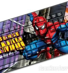 #Marvel Spider-Man Cityscape Wired USB Keyboard