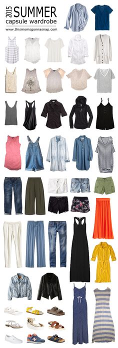 Mom Style {Summer Capsule Wardrobe} (love the idea of a seasonal wardrobe. Love some of these pieces but not all.)