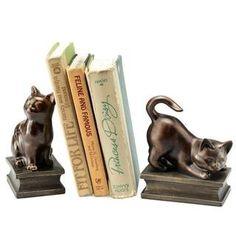Amazon.com - Игривый Кошки Bookends (пара) - Декоративные Bookends