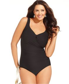 73cc01615c Miraclesuit Plus Size Escape One-Piece Swimsuit With Underwire Plus Sizes -  Swimwear - Macy s