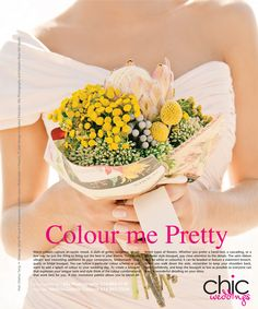 Mariage Chic Magazine ella photography. #flowers #beauty #bright #bouquet #wedding #editorial