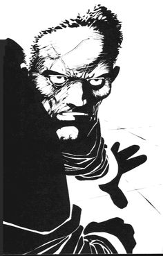 Sin City - Hartigan by Frank Miller Frank Miller Sin City, Frank Miller Art, Frank Miller Comics, Comic Book Artists, Comic Artist, Comic Books Art, Sin City Comic, Graphic Design Illustration, Illustration Art