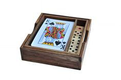 Card and Dice set  Wooden game Wooden gifts Card by siamcollection, $13.95