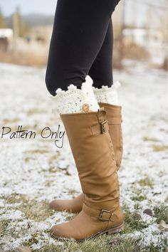 Crocheted Boot Cuff PATTERN ONLY by CraftyGingerella on Etsy, $3.00
