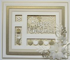 PartiCraft (Participate In Craft): Christmas Shadow Box Card Christmas Cards 2017, Xmas Cards, Men's Cards, Greeting Cards, Christmas Shadow Boxes, Spellbinders Cards, Handmade Christmas Decorations, Christmas Drawing, Scrapbooking