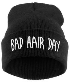 9c34713553ff7 2016 New Bad Hair Day Beanie Cap WomenMen Hat Beanie Knitted Hiphop Hats  For Women Fashion