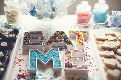 -HAVE to do this with skittles! -    A Quirky Alice in Wonderland Wedding: Nic & Ed