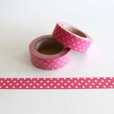 "Masking Washi Tape ""WEISSE PUNKTE / PINK"" von Washi-King auf DaWanda.com"