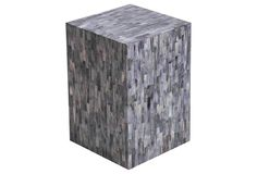 Marqaux Bone Side Table, Gray
