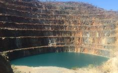 ALMOST BLUE: The open cut mine at the abandoned Mary Kathleen site. Mary K, Raising Capital, Swimming Holes, Architect Design, Ghost Towns, Abandoned, Rio, City Photo