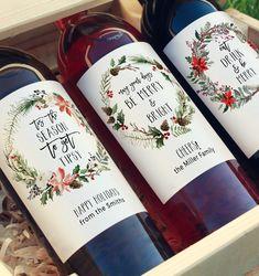 Mini Wine Bottles, Wine Bottle Labels, Friends Family, Gifts For Friends, Wine Bottle Centerpieces, Wedding Wine Labels, Custom Wine Labels, Champagne Label, Wine Label Design