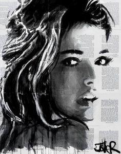 """Saatchi Art Artist Loui Jover; Drawing, """"flicka"""" #art"""