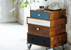 with old drawers