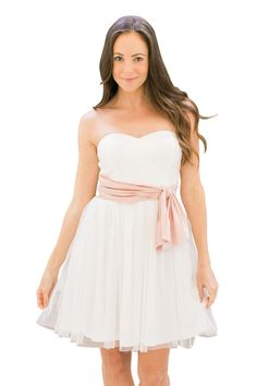 Fit & Flare Strapless Tulle Dress