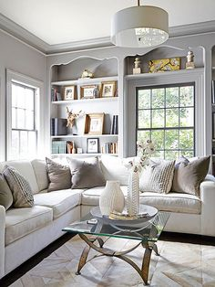via Better Homes and Gardens | interesting millwork and styling