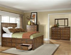 King Size Bed with Storage Drawers | ... bed dimensions 67w x 58h inter op br 5856s 6 drawer under bed storage