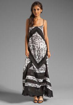 SUBOO Printed Maxi Dress in Madagascar