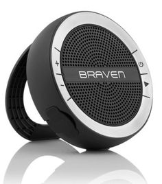 The Mira by Braven speaker is IPX5 water-resistant, which means it can withstand sprays from water jets in any direction.
