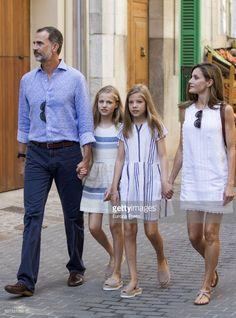 August 6, 2017 - King Felipe VI of Spain, Queen Letizia of Spain & their daughters, Princess Leonor of Spain (L) & Infanta Sofía of Spain (R), visit the Can Prunera Museum in Palma de Mallorca, Spain.