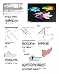 Оригами солнышко схема сборки от Garibli Ilan
