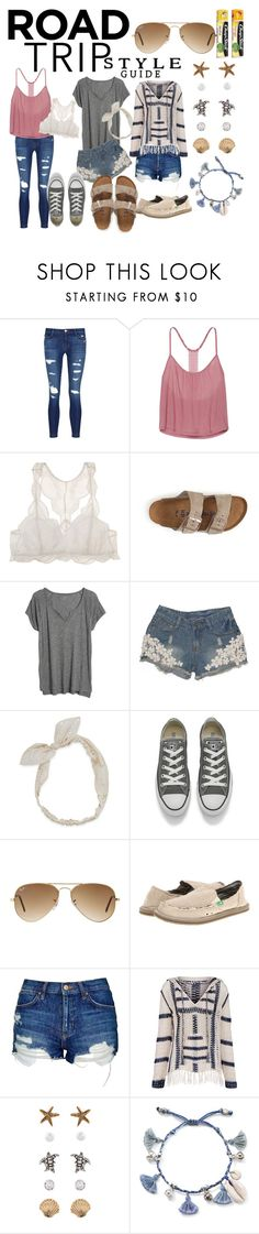 """Road Trip Style : Relaxed & Trendy"" by rosebuds1617 ❤ liked on Polyvore featuring J Brand, Victoria's Secret, Eberjey, Birkenstock, Madewell, Carole, Converse, Ray-Ban, sanuk and Topshop"