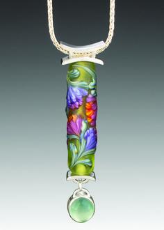 lampworked bead by Kristen Frantzen Orr, jewelry by Gail Rappa, photography by David Orr