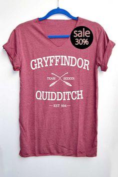 Gryffindor Quidditch Shirt Harry Potter Shirts par iNakedapparel