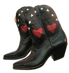 Cowboy boots with hearts