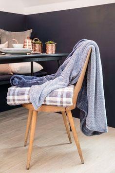 Pléd Mistral Home Flannel printed Navy check modrá cm Flannel, Blankets, Studios, Plaid, Prints, Home, Gingham, Flannels, Blanket